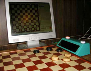 Electronic draughts board