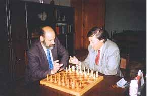 Boris Yeshan and Anatoly Karpov
